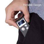 Evistr Portable Noir 8 Go Digital Audio Voice Recorder, lecteur de musique MP3, Dictaphone, Multifonctionnel Rechargeable Dictaphone Lecteur avec haut-parleur de la marque EVISTR image 3 produit