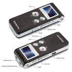 Evistr Portable Noir 8 Go Digital Audio Voice Recorder, lecteur de musique MP3, Dictaphone, Multifonctionnel Rechargeable Dictaphone Lecteur avec haut-parleur de la marque EVISTR image 1 produit
