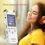 EVISTR Vocale Enregistreur Numérique Double Microphone Stéréo HD 8Go Haute-Fidélité Dictaphone Enregistrement Bruit Dynamique la Réduction 1.4 Inch TFT écran Coloré écran Multifonctions Coupe Segmentation Lnsetting étiquetage D'enregistrement Signet Avec image 4 produit