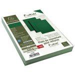EXACOMPTA 2798C Un paquet de 100 couvertures FOREVER en carte rigide grain cuir 21x29,7 cm 270 g VERT foncé de la marque Exacompta image 3 produit