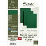 EXACOMPTA 2798C Un paquet de 100 couvertures FOREVER en carte rigide grain cuir 21x29,7 cm 270 g VERT foncé de la marque Exacompta image 4 produit