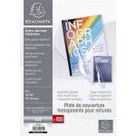 EXACOMPTA 42741E - Une Boite de 100 couvertures transparentes en PVC 21x29,7 cm couleur CRISTAL 15/100ème de la marque Exacompta image 3 produit