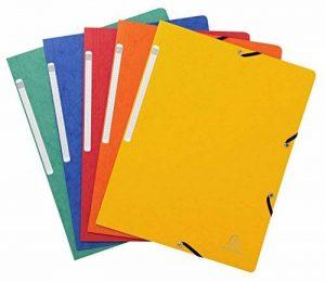 Exacompta 55410E Lot de 10pochettes avec fermeture élastique multicolores de la marque Exacompta image 0 produit