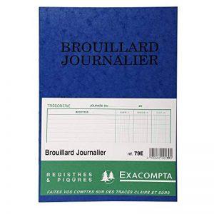 Exacompta 79E Brouillard Journalier piqué 27 x 19,5 cm 40 pages format Vertical/110 g/m² de la marque Exacompta image 0 produit