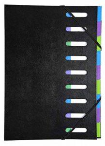 Exacompta - Réf. 56733E - Trieur Harmonika dos extensible 9 compartiments en couverture rigide Black Office 23,5x33cm - noir de la marque Exacompta image 0 produit