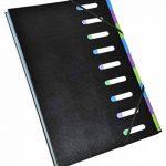 Exacompta - Réf. 56733E - Trieur Harmonika dos extensible 9 compartiments en couverture rigide Black Office 23,5x33cm - noir de la marque Exacompta image 1 produit