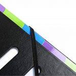 Exacompta - Réf. 56733E - Trieur Harmonika dos extensible 9 compartiments en couverture rigide Black Office 23,5x33cm - noir de la marque Exacompta image 2 produit