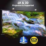 """Excelvan Écran de Projection100""""Diagonale 16: 9 1.1 Gain 160 ° Angle de Vision Portable Installation Rapide pour la Projection de Films de 4K HD Home Cinéma en Plein Air de la marque Excelvan image 1 produit"""