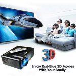 Excelvan Vidéoprojecteur LED HD Théâtre Domestique 720P-1080P Projecteur 3D TV Digital / HDMI / VGA/ USB / AV 3000 Lumens - Noir de la marque Excelvan image 4 produit