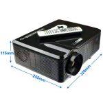 Excelvan Vidéoprojecteur LED HD Théâtre Domestique 720P-1080P Projecteur 3D TV Digital / HDMI / VGA/ USB / AV 3000 Lumens - Noir de la marque Excelvan image 1 produit