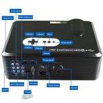 Excelvan Vidéoprojecteur LED HD Théâtre Domestique 720P-1080P Projecteur 3D TV Digital / HDMI / VGA/ USB / AV 3000 Lumens - Noir de la marque Excelvan image 2 produit