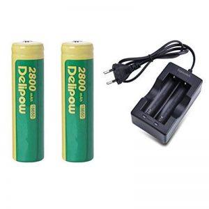 Expresstech @ 2x Piles rechargeables batterie 18650 capacité 2800mAh 3.7V Li-ion pile + chargeur pour Lampe de Poche ou Lampe Frontale LED Lamp Torche de la marque Expresstech image 0 produit