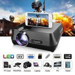 ExquizOn GT-S9 Vidéoprojecteur Portable LED Soutien HD 1080p HDMI USB VGA AV SD, Retroprojecteur 2200 Lumens LED HD 1080p Projecteurs pour Jeu Video Photos Films Match de Football de la marque ExquizOn image 3 produit