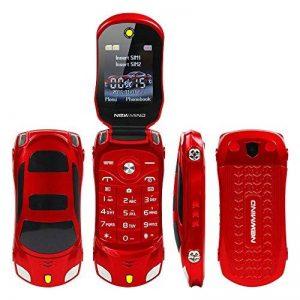 F15Mini Flip Voiture de Sport Style téléphone Dual sim Lecteur MP3/MP4Le Meilleur pour Enfants étudiants (Rouge) de la marque Newmid image 0 produit