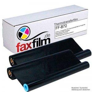 FAXFILM Lot de 2 rubans à transfert thermique compatibles Noir 144 pages chacun En remplacement de Brother PC-72RF, PC-71RF de la marque FAXFILM image 0 produit