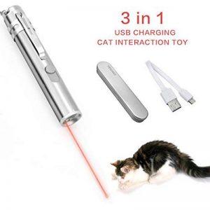 FEICHAO Jouet interactif pour chat, avec voyant LED - À attraper - Exercices et entraînement pour animaux domestiques - Rechargeable de la marque FEICHAO image 0 produit