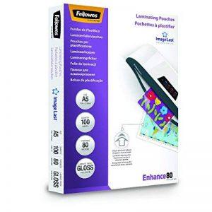 Fellowes 5306002 Pochettes de plastification A5 80 microns par 100 Transparent de la marque Fellowes image 0 produit