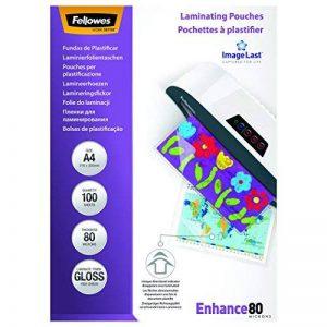 Fellowes 5306114 Pochettes de plastification A4 80 microns par 100 de la marque Fellowes image 0 produit