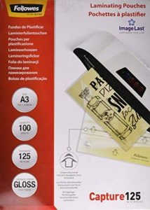 Fellowes 5307506 Pochettes de plastification A3 125 microns par 100 de la marque Fellowes image 0 produit