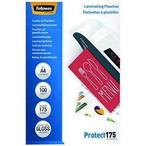Fellowes 5308703 Protect 175 microns A4 pochettes de plastification brillantes - Pack de 100 Transparent de la marque Fellowes image 0 produit