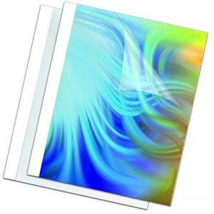 Fellowes 53152 Standard - Pack de 100 Couvertures de reliure pré-encollées 3 mm A4 face PVC dos brillant 150 microns + 200g - Blanc de la marque Fellowes image 0 produit