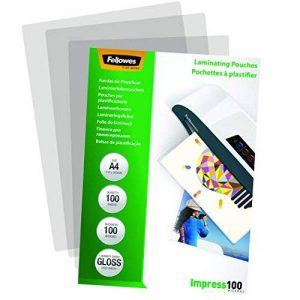 Fellowes 5351111 Pochettes de plastification brillantes Impress 100 microns A4 - Pack de 100 Transparent de la marque Fellowes image 0 produit