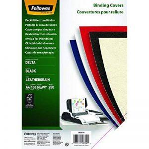 Fellowes 5370405 Delta - Lot de 100 A4 Couvertures de reliure Grain Cuir - Noir de la marque Fellowes image 0 produit