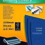 Fellowes 5373902 Delta - Pack de 25 A4 Couvertures de reliure Grain Cuir - Bleu royal de la marque Fellowes image 1 produit