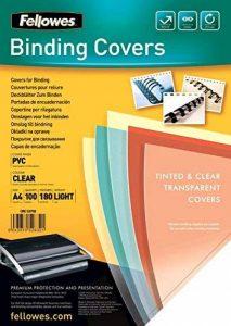 Fellowes 5375901 Lot de 100 Couvertures de Présentation pour Reliure PVC 180 microns - Transparent de la marque Fellowes image 0 produit