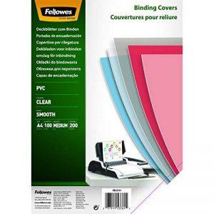 Fellowes 5376102 - Pack de 100 PVC A4 200 Microns Couvertures de reliure - Transparent de la marque Fellowes image 0 produit