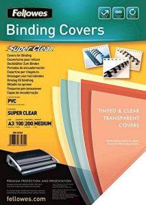 Fellowes 53764 - Pack de Couvertures de reliure 100 PVC A3 200 Microns - Transparent de la marque Fellowes image 0 produit