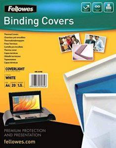 Fellowes 5379601 - Pack de 20 Chemises à reliure Thermiques 1,5 mm de la marque Fellowes image 0 produit