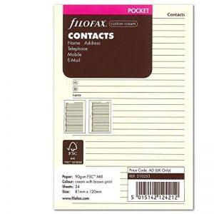 Filofax Bloc-notes de poche Nom/adresse/email/téléphone fixe/fax/téléphone portable Crème (Import Royaume Uni) de la marque Filofax image 0 produit