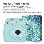 Fintie Fujifilm Instax Mini Film Album - 104 Mini films photos Album Livre Photo Album pour Fujifilm Instax Mini 9 Mini 8 Mini 90 Mini 25 Mini 70, Instax SP-2 SP-1, Polaroid Z2300 PIC-300P 3-Inch Film, Emerald Illusions de la marque FINTIE image 4 produit