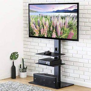 FITUEYES Meuble TV avec Support Pivotant Cantilever pour Téléviseur DE 32 Pouce à 65 Pouce Ecran LED LCD Plasma avec 3 Etagères pour Ranger AV équipement TT307001MBUK de la marque FITUEYES image 0 produit