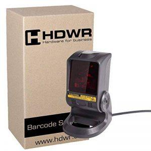 Fixe USB Professional lecteur de codes-barres, scanner de codes-barres, 1000 lectures sur un seconde, Auto-détection Fonction de la marque HDWR image 0 produit