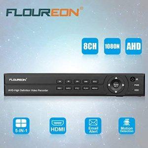 FLOUREON Enregistreur 8CH AHD DVR Vidéosurveillance 1080N HDMI H.264 CCTV Détection de Mouvement Surveiller à Distance Accès PC Smartphone Support TVI/CVI / AHD/Analogique / Caméra IP de la marque FLOUREON image 0 produit