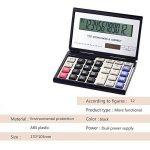 Fonction Standard Calculatrice avec pliant Boîtier,solaire et pile Calculateur de Bureau à 12 chiffres Noir et blanc de la marque Little ants image 1 produit