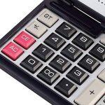 Fonction Standard Calculatrice avec pliant Boîtier,solaire et pile Calculateur de Bureau à 12 chiffres Noir et blanc de la marque Little ants image 4 produit