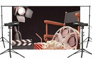 Fond Noir Vidéoprojecteur Chaise Popcorn Cola rétro cinéma Scène Studio photo Fond 7× 1,5m de la marque PB Zone image 0 produit