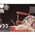 Fond Noir Vidéoprojecteur Chaise Popcorn Cola rétro cinéma Scène Studio photo Fond 7× 1,5m de la marque PB Zone image 2 produit