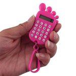 Forme empreinte en plastique Affichage LCD Portable 8 chiffres Calculatrice w Trousseau de la marque sourcing map image 1 produit