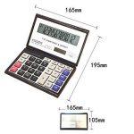 Fournitures de bureau calculatrice de bureau pliable portatif de batterie solaire de 12 chiffres de finances de la marque Zantec image 4 produit