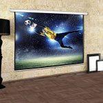 Frontstage - Ecran de projection déroulant pour vidéoprojecteur home cinema de qualité HD - toile de 150x150cm, diagonale de 203cm, format 1:1 - facteur de gain 1.0 de la marque Frontstage image 2 produit