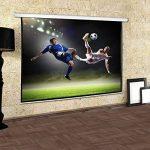 Frontstage - Ecran de projection déroulant pour vidéoprojecteur home cinema de qualité HD - toile de 170x170cm, diagonale de 244cm, format 1:1 - facteur de gain 1.0 de la marque Frontstage image 2 produit