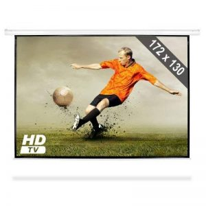 Frontstage - Ecran de projection déroulant pour vidéoprojecteur home cinema de qualité HD - toile de 172x130cm, diagonale de 218cm, format 4:3 - facteur de gain 1.0 de la marque Frontstage image 0 produit