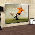 Frontstage - Ecran de projection déroulant pour vidéoprojecteur home cinema de qualité HD - toile de 172x130cm, diagonale de 218cm, format 4:3 - facteur de gain 1.0 de la marque Frontstage image 2 produit