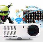FULL HD Vidéoprojecteur Wifi sans fil Android Intelligent vidéo projecteur FULL HD Home cinéma 1080P LED vidéo projecteur HD 4000 lumen 7000 :1 vidéo projecteur 3D soutenir écran de projection de 200 pouces Avec HDMI USB ATV VGA pour les jeux vidéo films image 1 produit