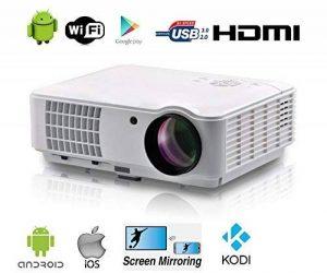 FULL HD Vidéoprojecteur Wifi sans fil Android Intelligent vidéo projecteur FULL HD Home cinéma 1080P LED vidéo projecteur HD 4000 lumen 7000 :1 vidéo projecteur 3D soutenir écran de projection de 200 pouces Avec HDMI USB ATV VGA pour les jeux vidéo films image 0 produit