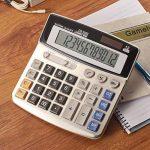 FUYUFU Calculatrice de Bureau à 12 Chiffres Calculette Fonction Standard Calculateur de Bureau Double Alimentation Calculatrice Solaire et Pile AA ( pile AA non inclus ) (DS-5500) de la marque image 2 produit